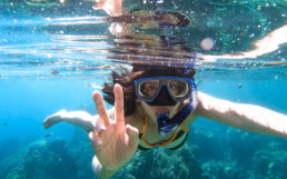 Snorkelling in the Rock Islands, Palau